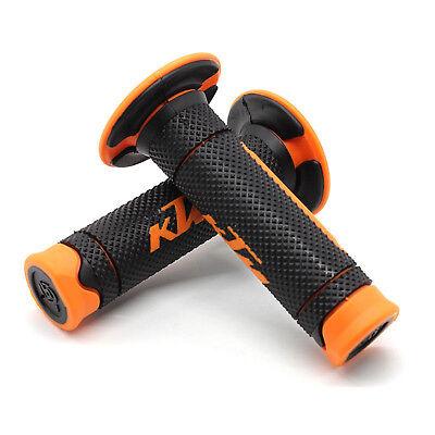 1 Pair of Motorcycle Handle bar Hand Grips Orange Grip For KTM ATV Dirt Bike
