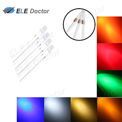 100 1000pcs 3mm 5mm Diffused Round Top Led White Red Blue Green Pink 7colors