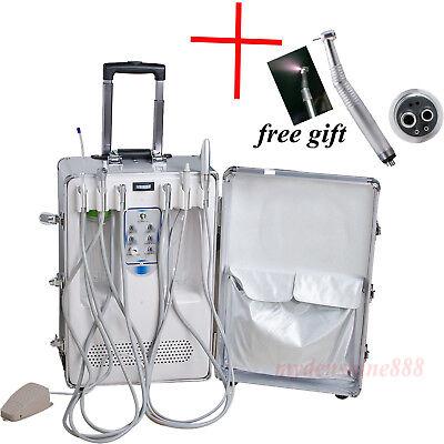 Portable Suitcase Dental Turbine Unit Compressor Curing Light Scaler Handpiece