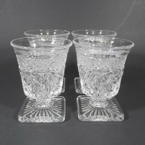 Imperial Glass CAPE COD Oyster Fruit Cocktail Glasses Set of 4 Clear Glass