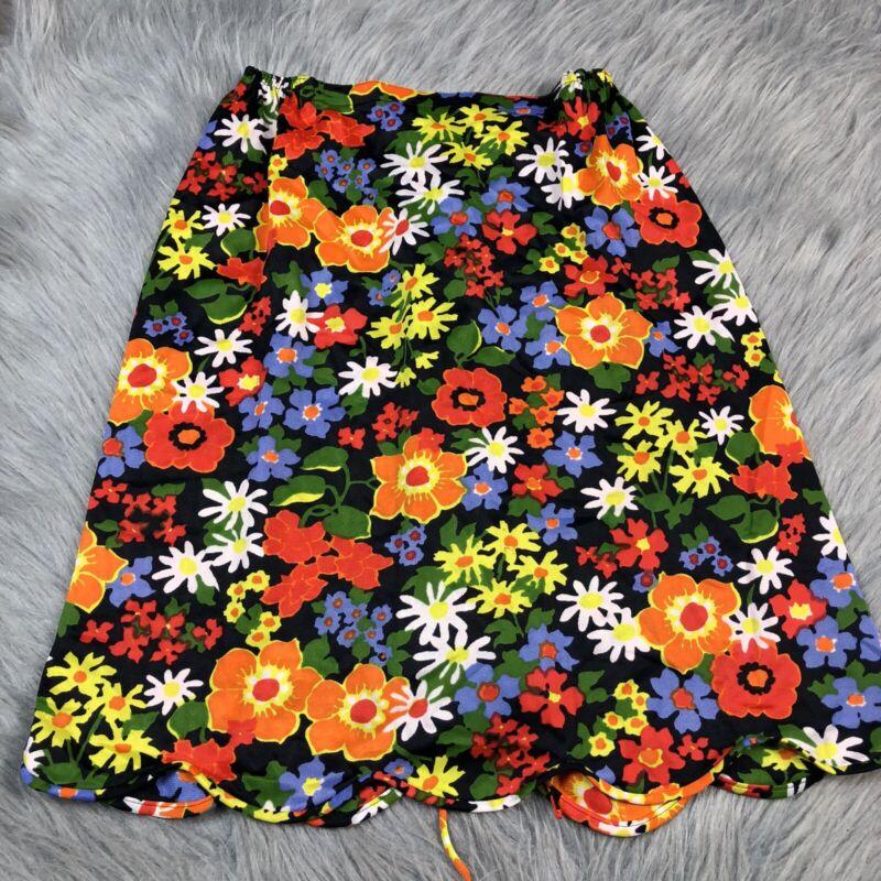 Vintage Gossard Artemis Nylon Multicolored Floral Skirt Slip