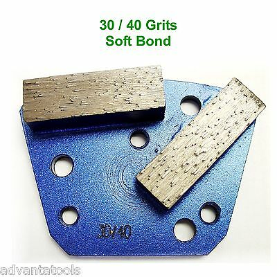Trapezoid Htc Style Grinding Shoe Disc Plate - Soft Bond - 3040 Grit
