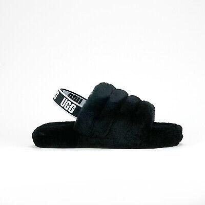 UGG Australia Big Kid's FLUFF YEAH Slide Black 1098494K-BLK e
