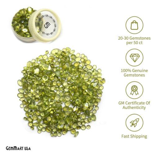 Peridot Loose Gemstones Mixed Faceted Cut Natural Stones DIY Gems Wholesale Lots