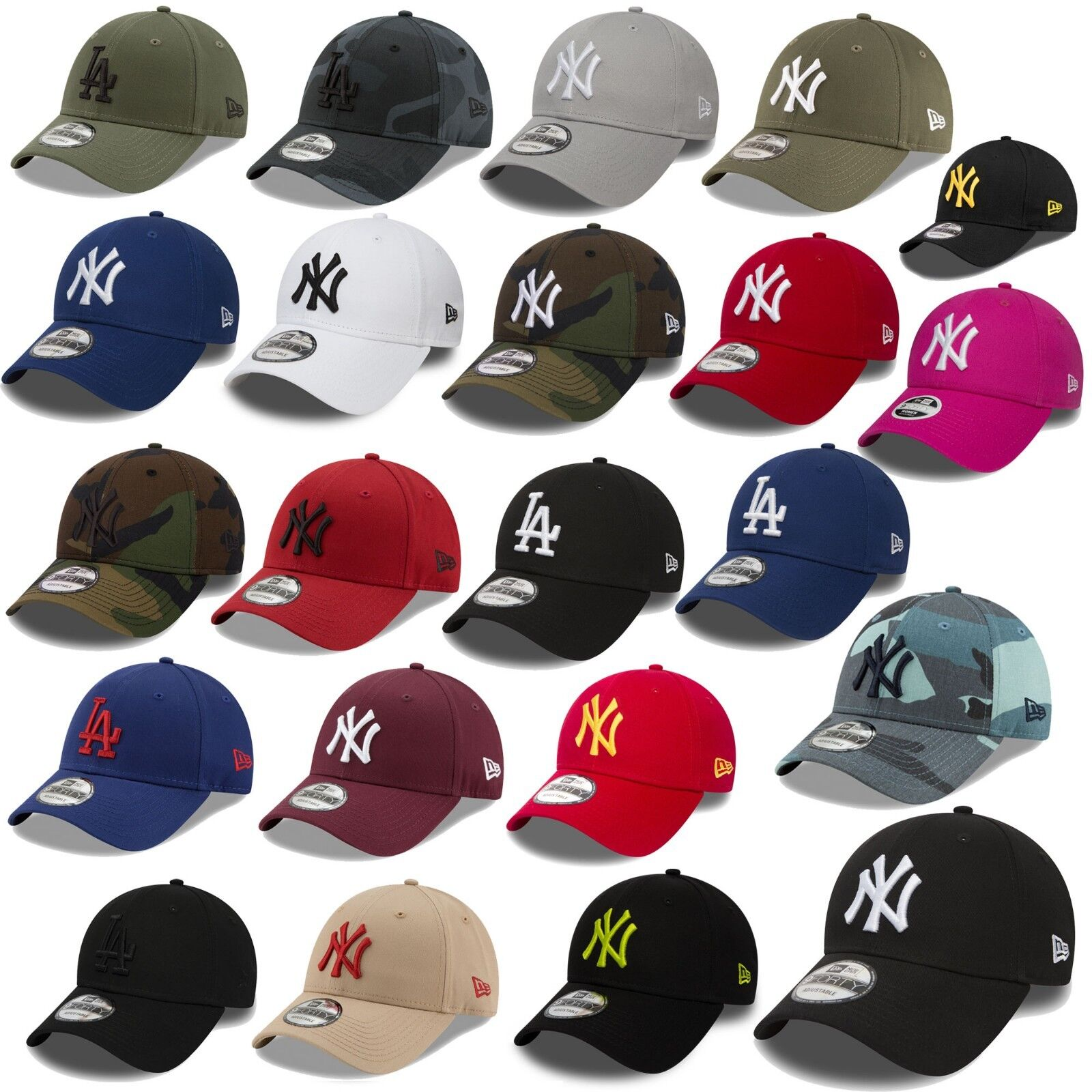 New Era MLB 9Forty Cap New York Yankees Baseball Los Angeles Dodgers Unisex Kapp