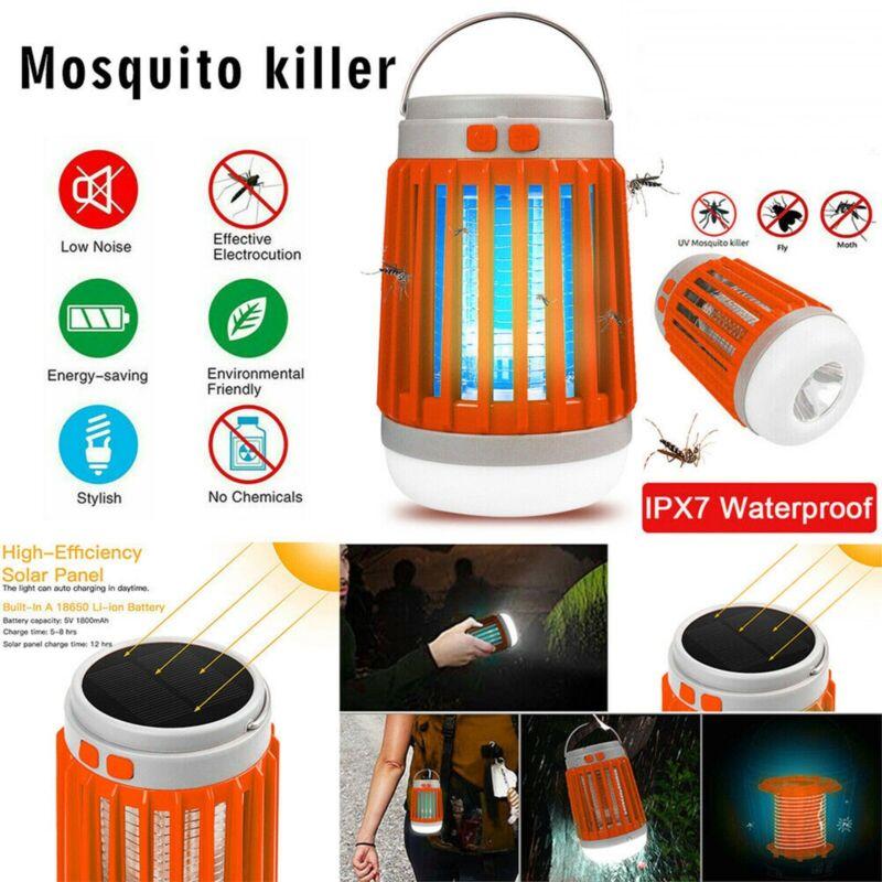 LED Solar USB Electric Shock Mosquito Killer Fly Bug Zapper Pest Trap Lamp Light