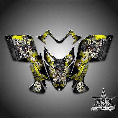 Polaris IQ RMK Shift Dragon Graphics Decal Wrap 2005-2012 Cowboy Outlaw Yellow
