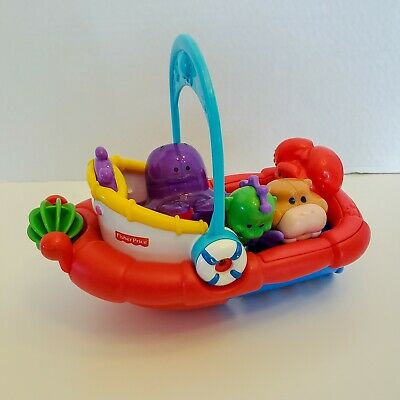 Fisher Price Tubtime Tugboat Amazing Animals Bath Time Fun Boat Walrus Seahorse+