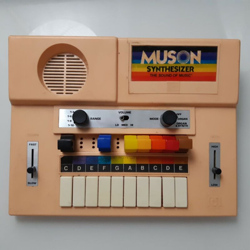 Rare Muson Toy Music Synthesizer 1978 Mego Corp Devo Working