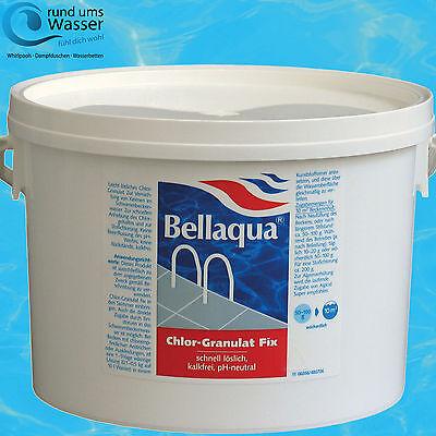 Bellaqua Chlor Granulat Fix 3kg Schnell löslich Pool Schwimmbad Chlorung Bayrol ()
