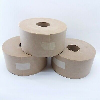 Brown Paper Tape Reinforced Gummed Packaging Tape Case Of 3 Rolls