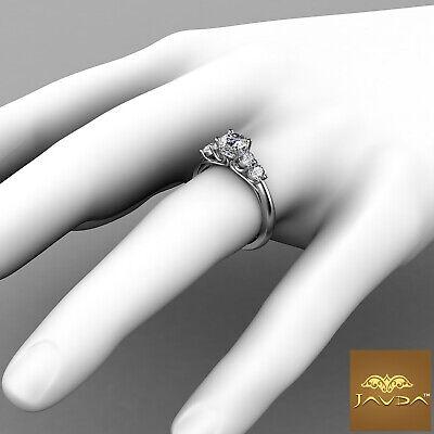 5 Stone Trellis Setting Round Diamond Engagement Prong Ring GIA F Color SI1 1Ct  3