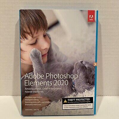 Adobe Photoshop Elements 2020 PC/Mac Disc Version GENUINE US VERSION