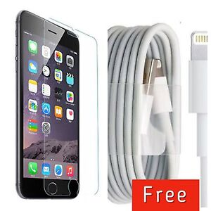 Iphone6/6s temperd glass with free cable