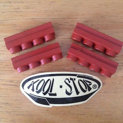 Black Replacement Brake Pad - New Set 4 Kool Stop Replacement Brake Pad Inserts For MAFAC Caliper Salmon/Black