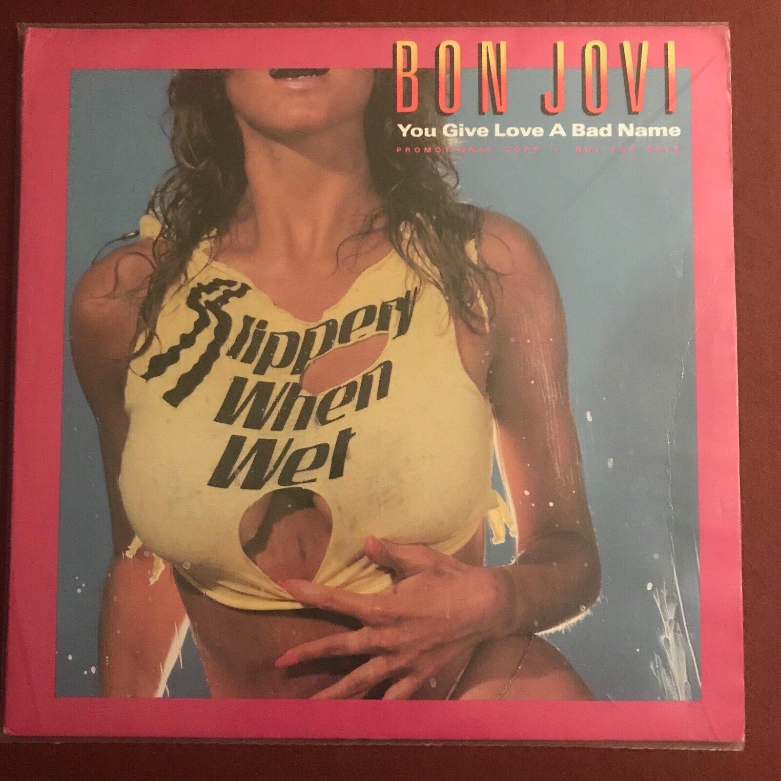 "BON JOVI - You Give Love A Bad Name - 1986 Rare banned USA promo only 12"" vinyl"