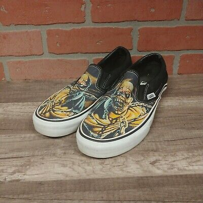VTG VANS CLASSIC SLIP-ON IRON MAIDEN EDDIE SHOES MENS SZ 7.5 LIMITED EDITION