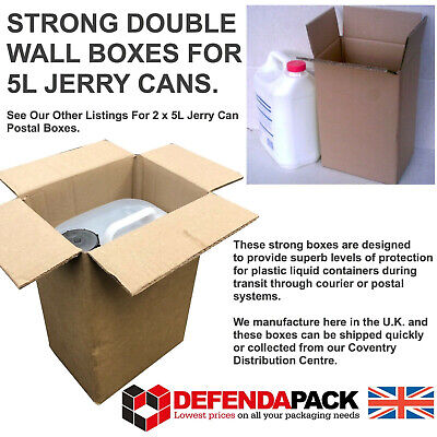 200 5L 5 Litre Liquid Container DOUBLE WALL JERRY CAN POSTAL STORAGE BOXES