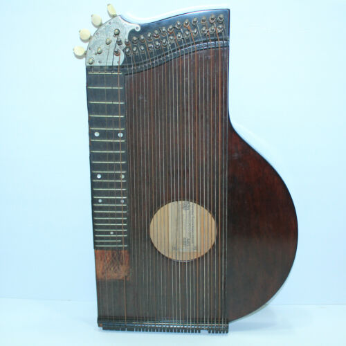 VERY COOL ANTIQUE GEORG TIEFENBRUNNER ZITHER MADE IN GERMANY GEGRUNDET 1842