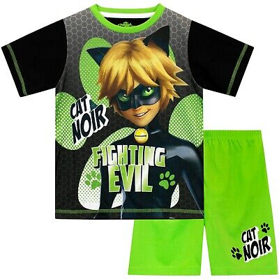 yjamas I Kids Cat Noir Pyjama I Boys Miraculous Cat Noir PJs (Kid Pjs)