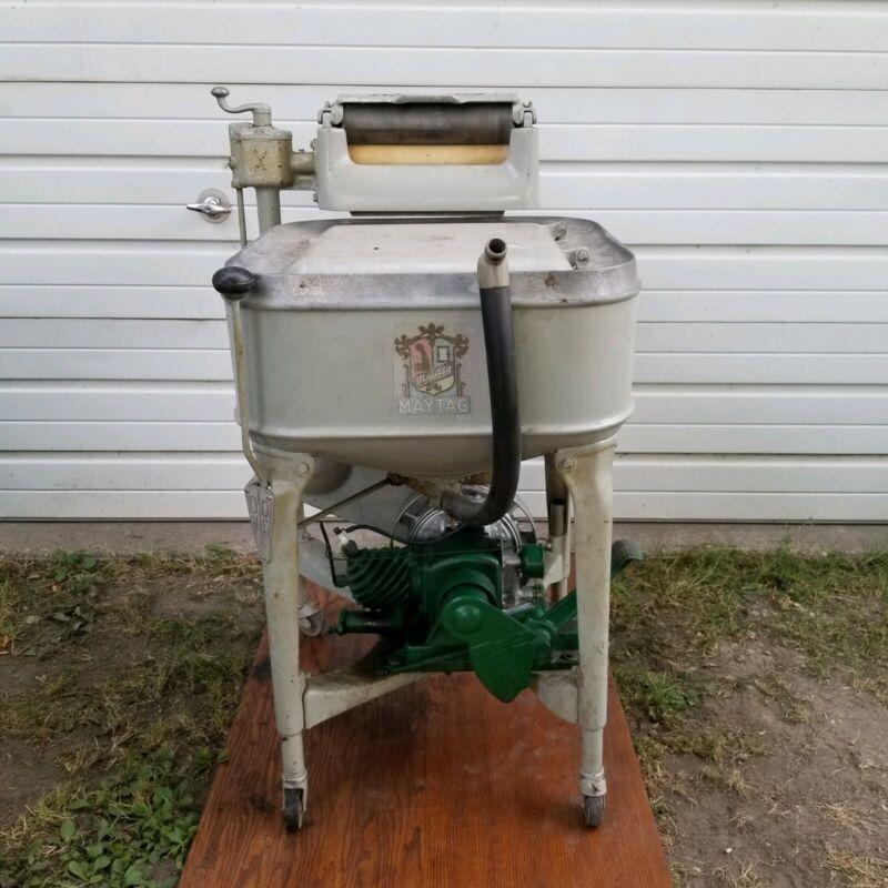 Maytag Gas Power Ringer Washing Machine Washer Cast MODEL 92 ENGINE Runs & Works