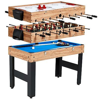 MD Sports 48 Inch 3-In-1 Combo Game Table, 3 Games with Billiards, Hockey and