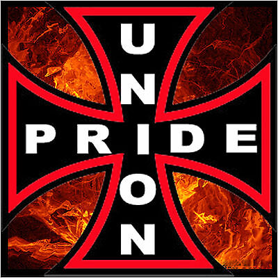 Union Pride Hard Hat Stickers Tool Box Sticker Cu-6