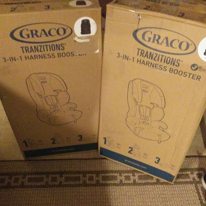 Graco Tranzitions 3-in-1 Harness Booster Car Seat - Proof Fashion,Black