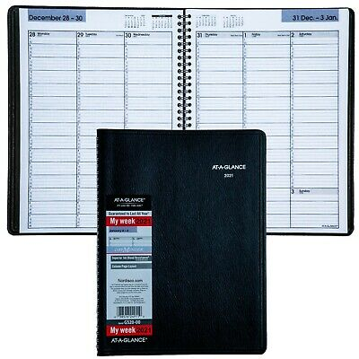 2021 At-a-glance Dayminder G520-00 Weekly Appointment Book 8 X 11 Black Cover