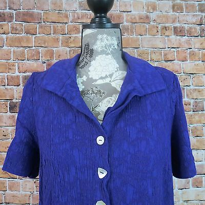 Used, Dress Barn Women  Blouse Size 16 Button Down floral Purple Padded Shoulder for sale  Shipping to India