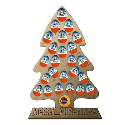Advent Calendar Personalised Kinder Egg Terrys Chocolate Orange Christmas Tree
