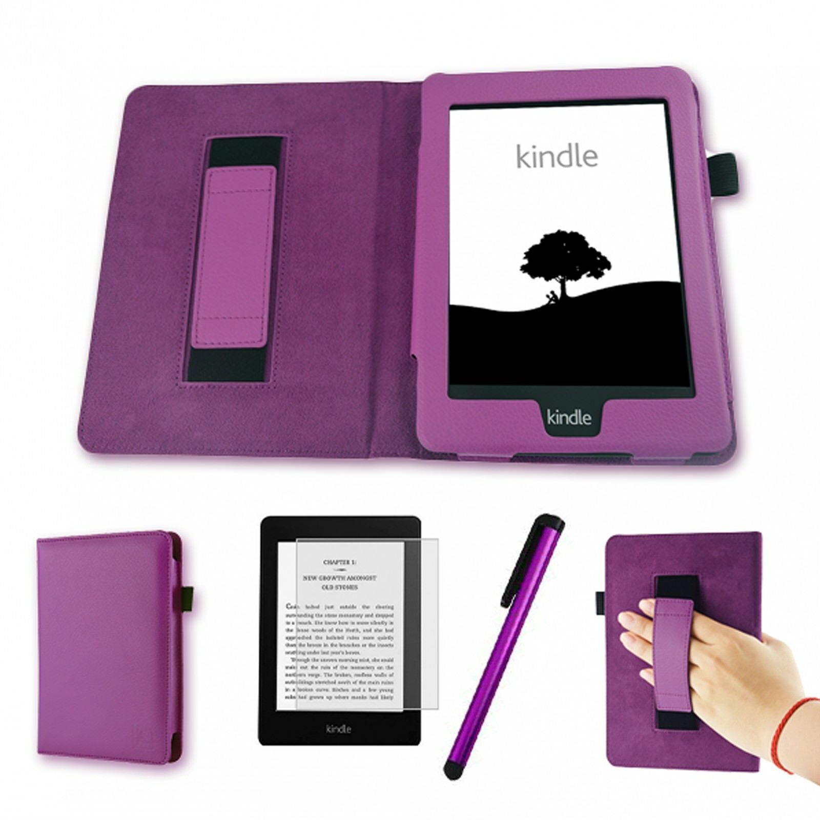 Schutz-Tasche-Hülle-Cover-Kindle Paperwhite-Ebook-Case Display-Schutz-Folie Pen
