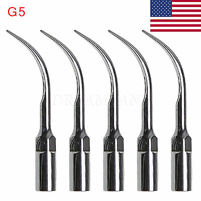 5x Dental Ultrasonic Scaler Scaling Tips G5 Fit Ems Handpiece Skysea Fast-ship