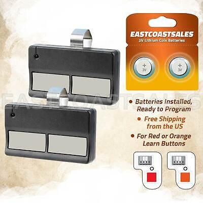 2 for Sears Craftsman 139.53681B Garage Door Opener Remote T