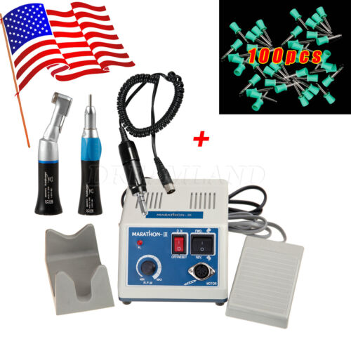 Dental Lab Marathon Polisher 35K Rpm Electric Motor Handpiece +Prophy Cups CP1
