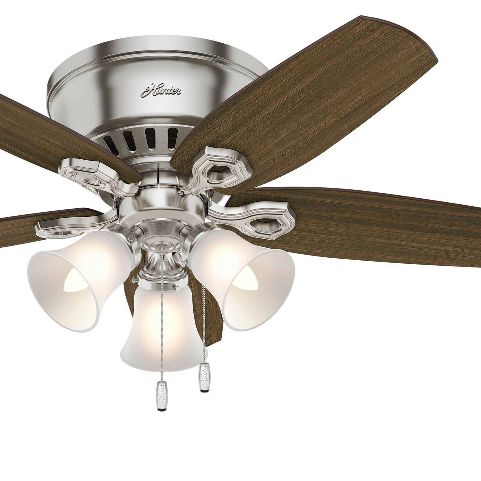 Hunter Fan 42 Inch Low Profile Ceiling Fan In Brushed Nickel With 3 Led Lights 840304132171 Ebay