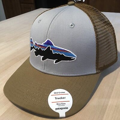 64fef53c Patagonia Fitz Roy Trout Trucker Hat - NWT - Drifter Grey w/ Coriander Sold  Out