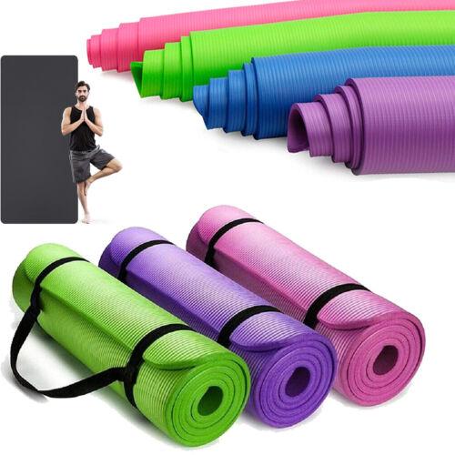 Yogamatte Fitnessmatte Jogamatte Rutschfest Gymnastikmatte Pilates mit Tragegurt