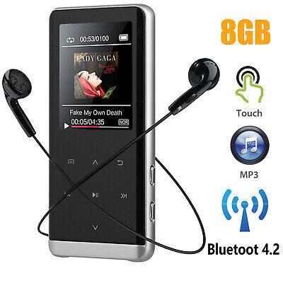 8GB bluetoot BT MP3 Player HIFI Sport Music Speakers MP4 Med