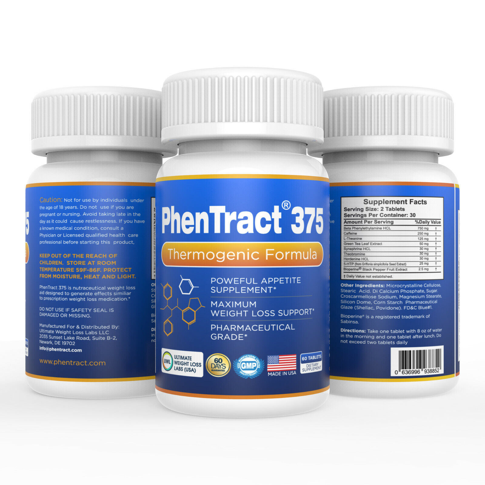 PhenTract375® Adipex Phen 375 Alt Hardcore Fat Burning Burner Weight Loss Diet