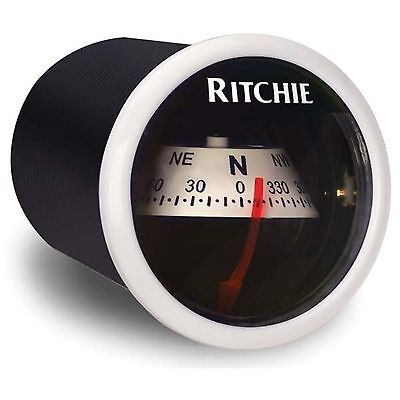 "Ritchie X-21 In-Dash Marine Compass White 2"""
