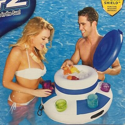 Inflatable Pool Cooler (Floating Inflatable Beer Cooler Drink Holder Pool Beach Lake River Party 6)