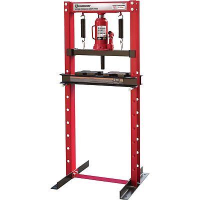 Strongway Hydraulic Shop Press - 12-Ton Capacity