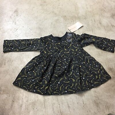 Dresses First (girls infants first impressions one piece dress long sleeve sparkle gold)
