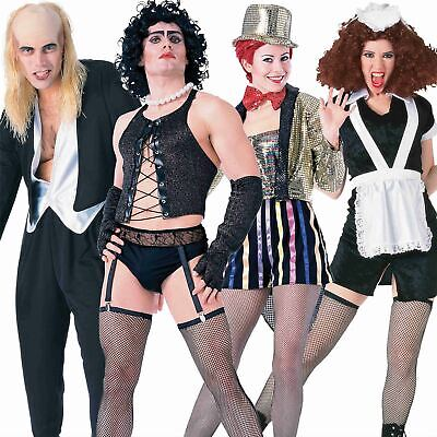 Mens Ladies Official Rocky Horror Picture Show Halloween Fancy Dress Costume Wig