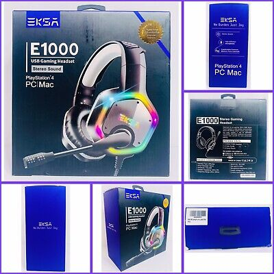 Gaming Headset Surround Sound Stereo USB Headphone Noise Canceling RGB Light NEW