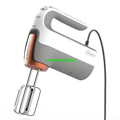 NEW Oster 270-Watt Hand Mixer w/ HEATSOFT Technology Whisk, Dough Hooks, & Case