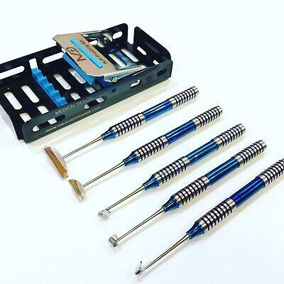 Dental Soft Brushing Kit Implant Surgery Instruments Set Black Titanium Coated