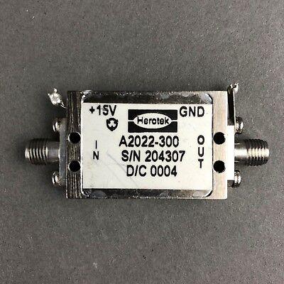 Herotek Rf Microwavepower Amplifier A2022-300 Sma F 15vdc Sn204307