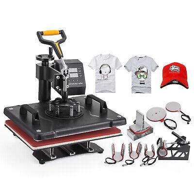 8 In 1 Heat Press Machine Swing Away Digital Sublimation T-shirt Mug Plate Hat
